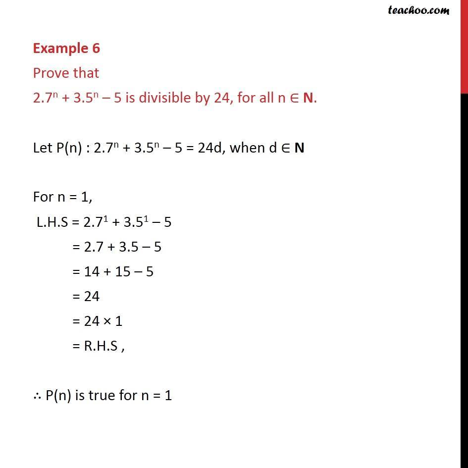 Example 6 - Chapter 4 Class 11 Mathematical Induction - Part 2