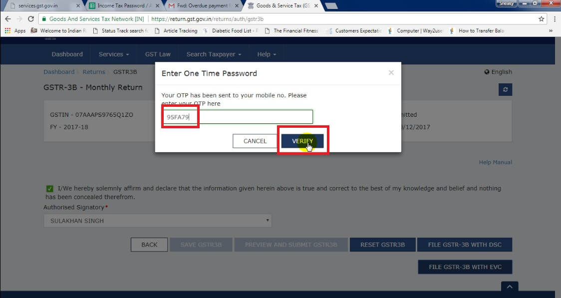 9. Enter OTP and click Verify Button.jpg