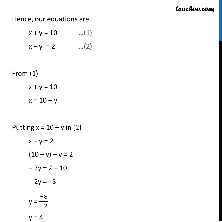 Ex 3.6, 2 (i) - Chapter 3 Class 10 Pair of Linear Equations in Two Variables - Part 3