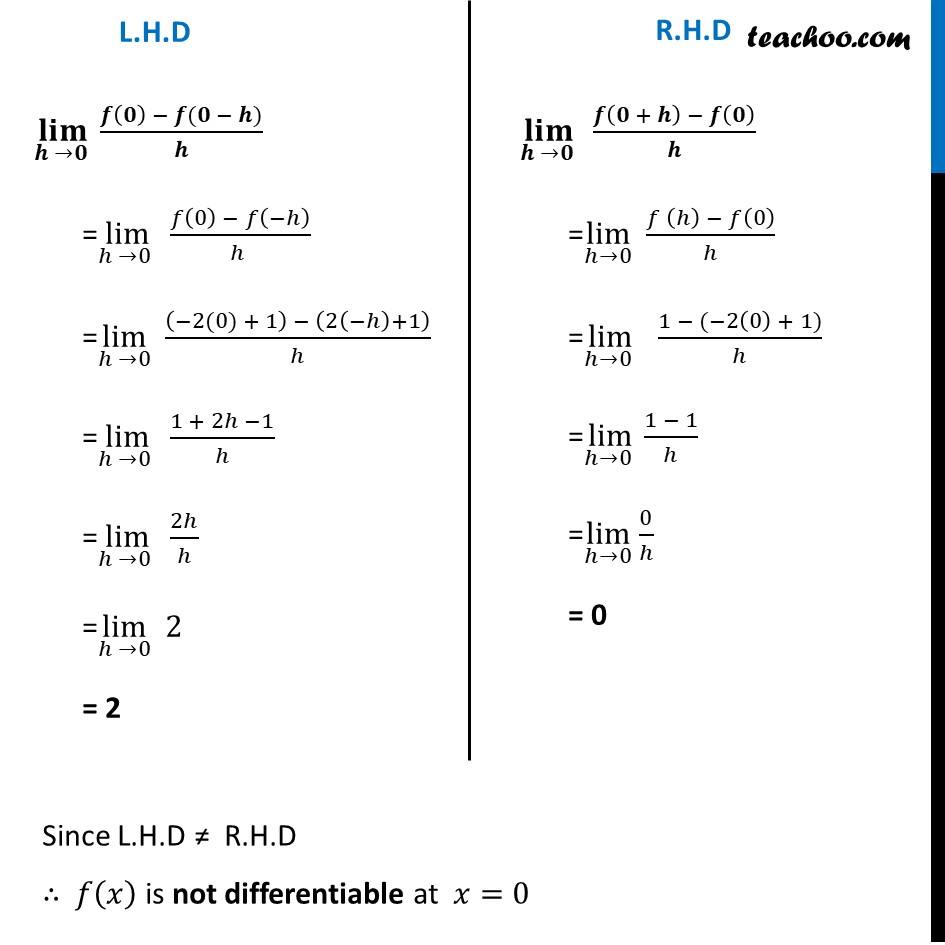 Misc  21 - Chapter 5 Class 12 Continuity and Differentiability - Part 6