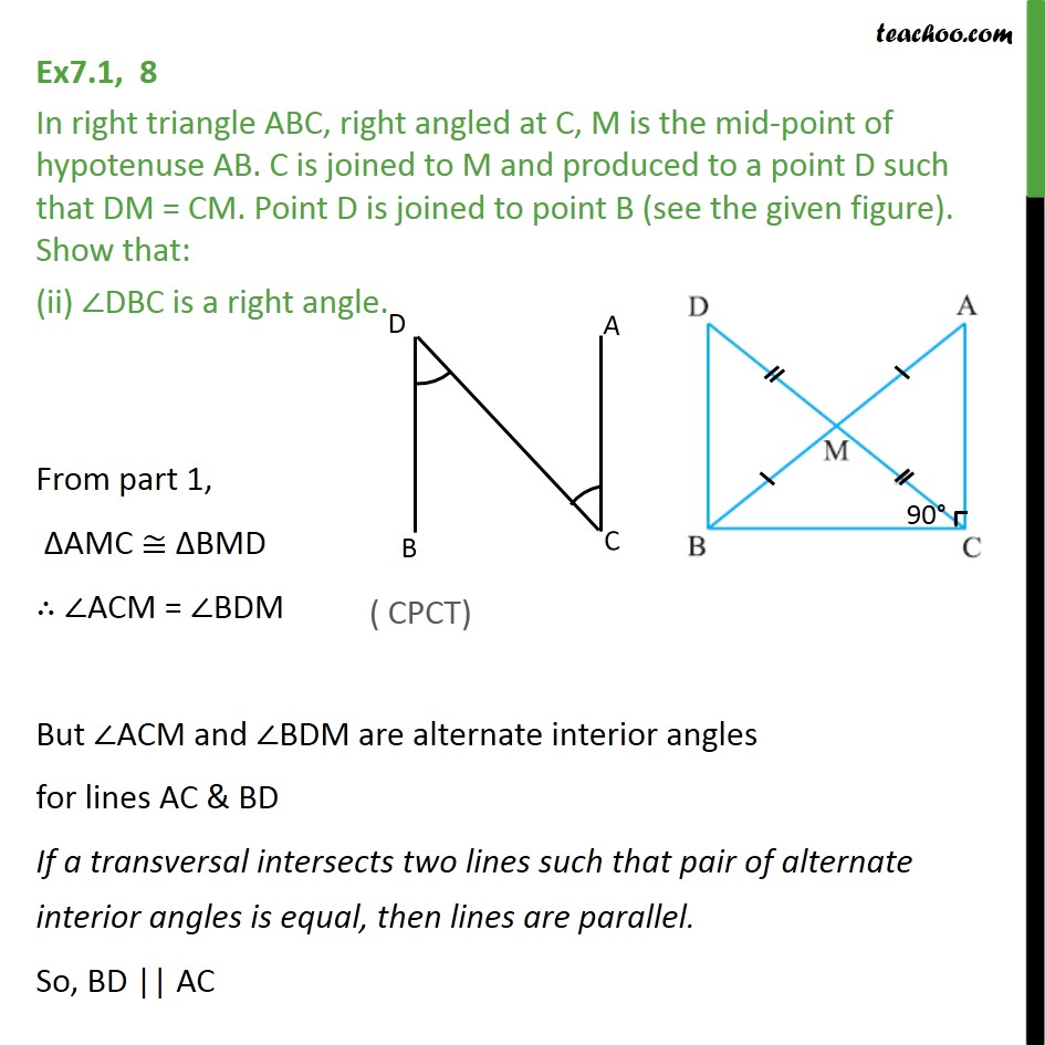 Ex 7.1, 8 - Chapter 7 Class 9 Triangles - Part 3