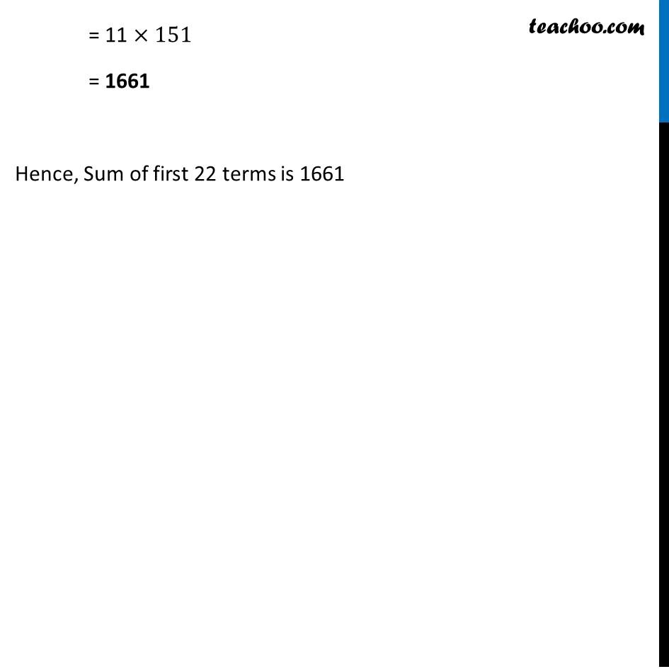 Ex 5.3, 7 - Chapter 5 Class 10 Arithmetic Progressions - Part 3