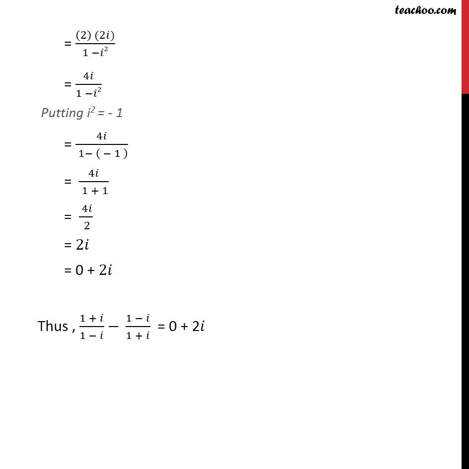 Misc 15 - Chapter 5 Class 11 Complex Numbers - Part 2