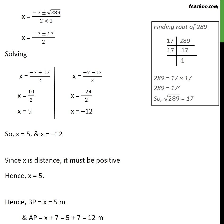 Example 17 - Chapter 4 Class 10 Quadratic Equations - Part 4