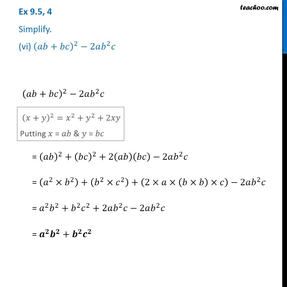Ex 9.5, 4 - Chapter 9 Class 8 Algebraic Expressions and Identities - Part 10