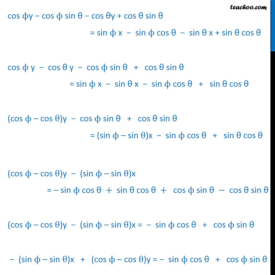 Misc 5 - Chapter 10 Class 11 Straight Lines - Part 2