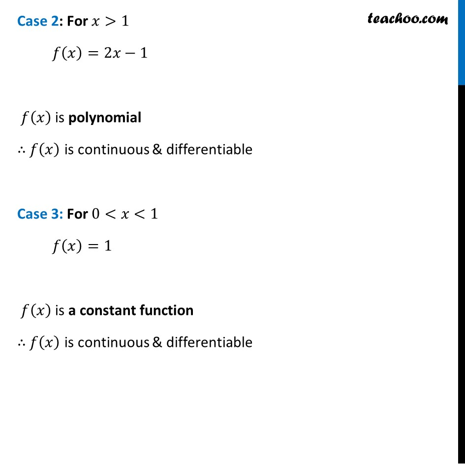 Misc  21 - Chapter 5 Class 12 Continuity and Differentiability - Part 3