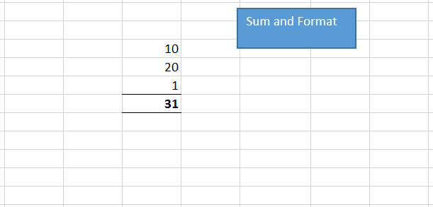 Make a macro to calculate sum & change its format - Macros