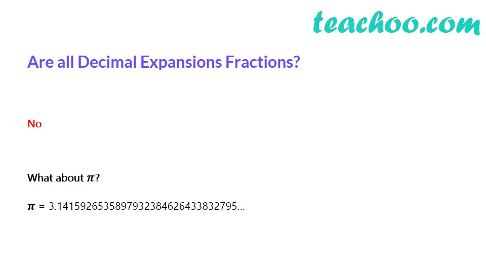 Are all Decimal Expansions Fractions? [Video] - Teachoo - Finding deci