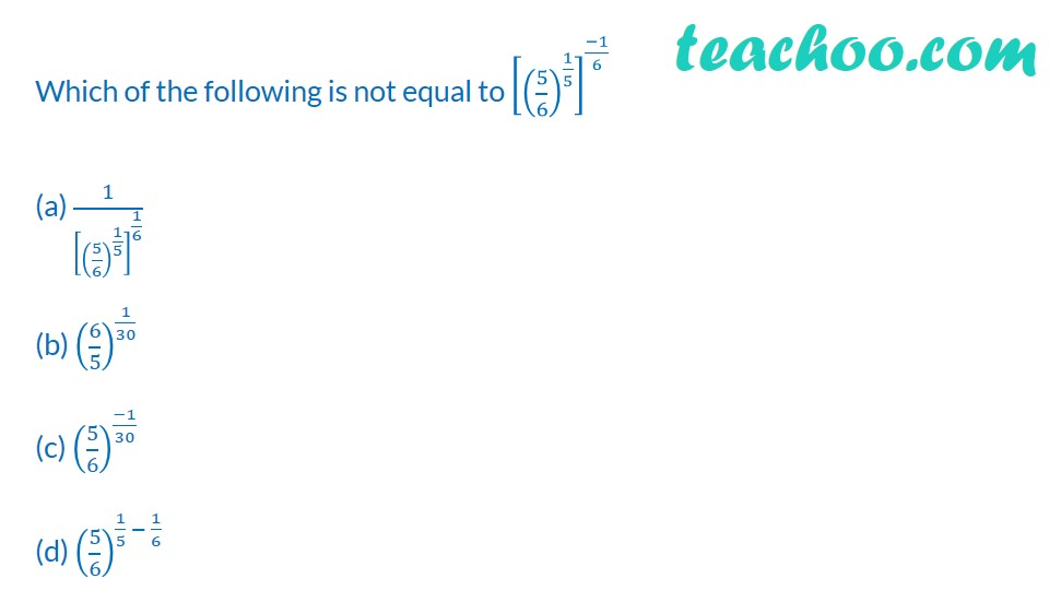 Practice Questions on Laws of Exponents - Part 4