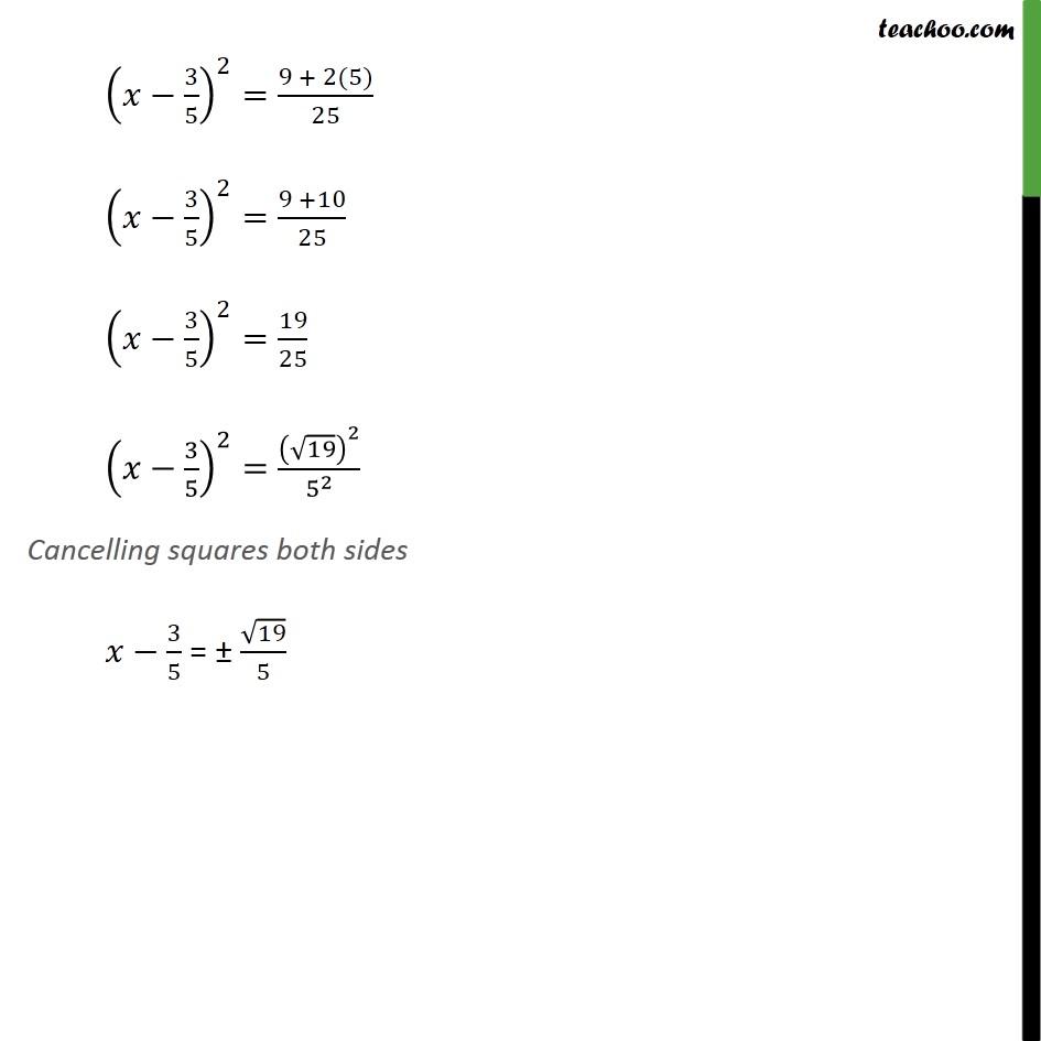 Example 8 - Chapter 4 Class 10 Quadratic Equations - Part 3