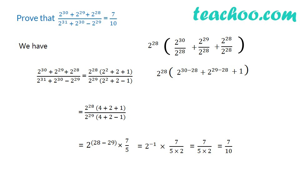 Practice Questions on Laws of Exponents - Part 11