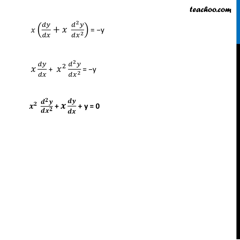 Ex 5.7, 13 - Chapter 5 Class 12 Continuity and Differentiability - Part 3