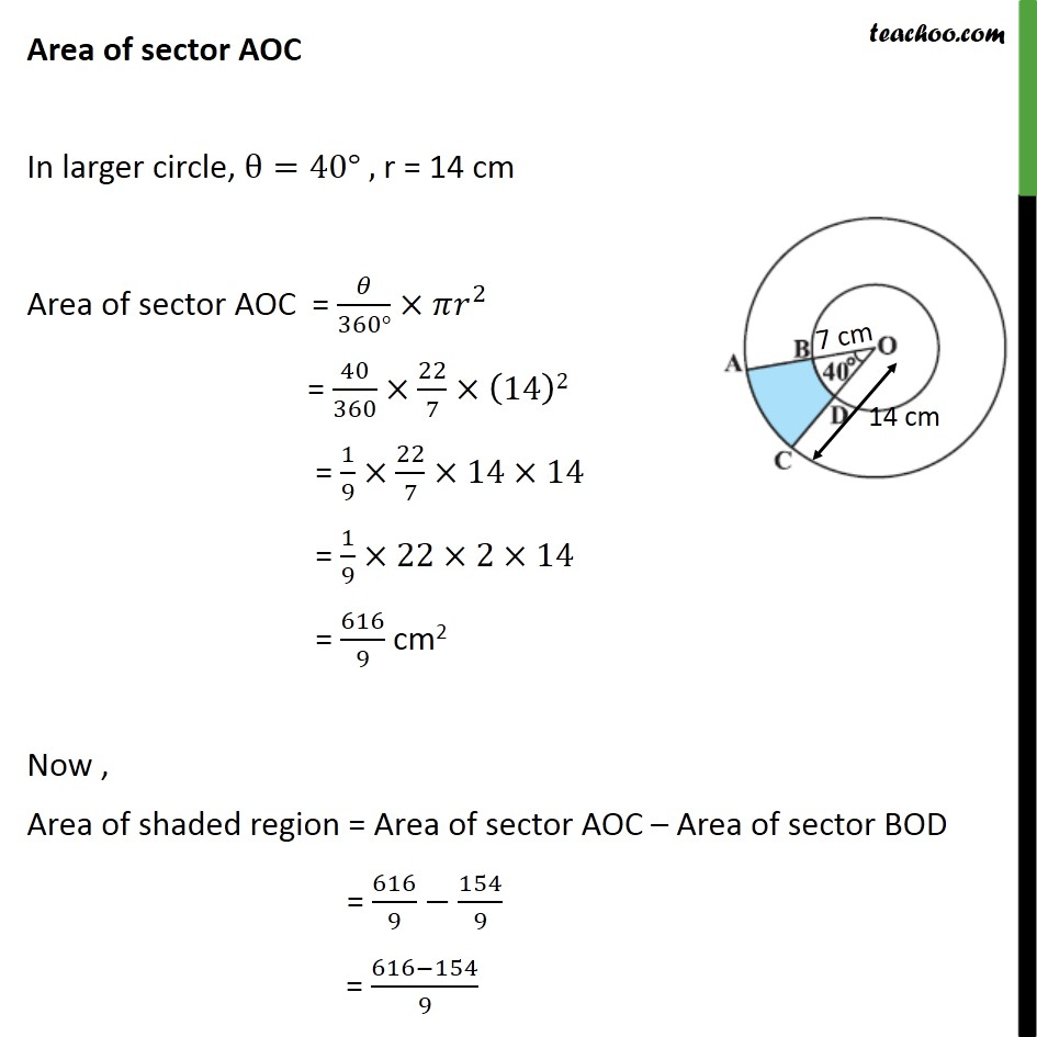Ex 12.3, 2 - Chapter 12 Class 10 Areas related to Circles - Part 2
