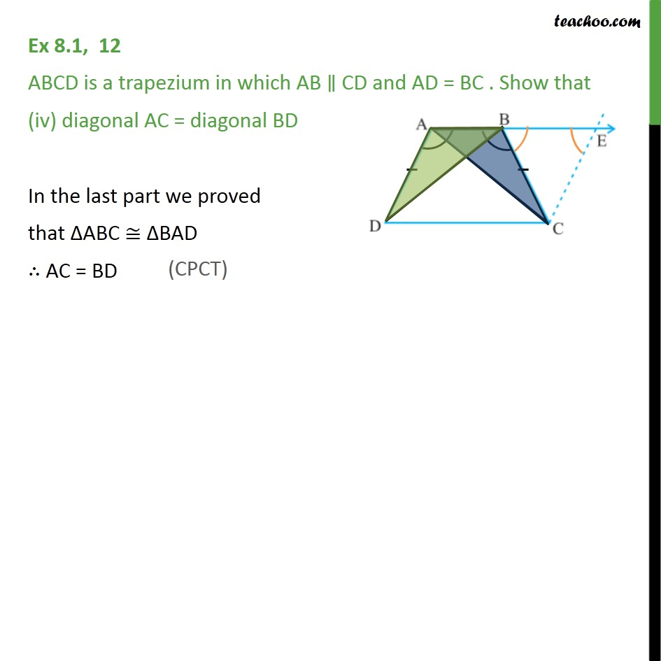 Ex 8.1, 12 - Chapter 8 Class 9 Quadrilaterals - Part 5