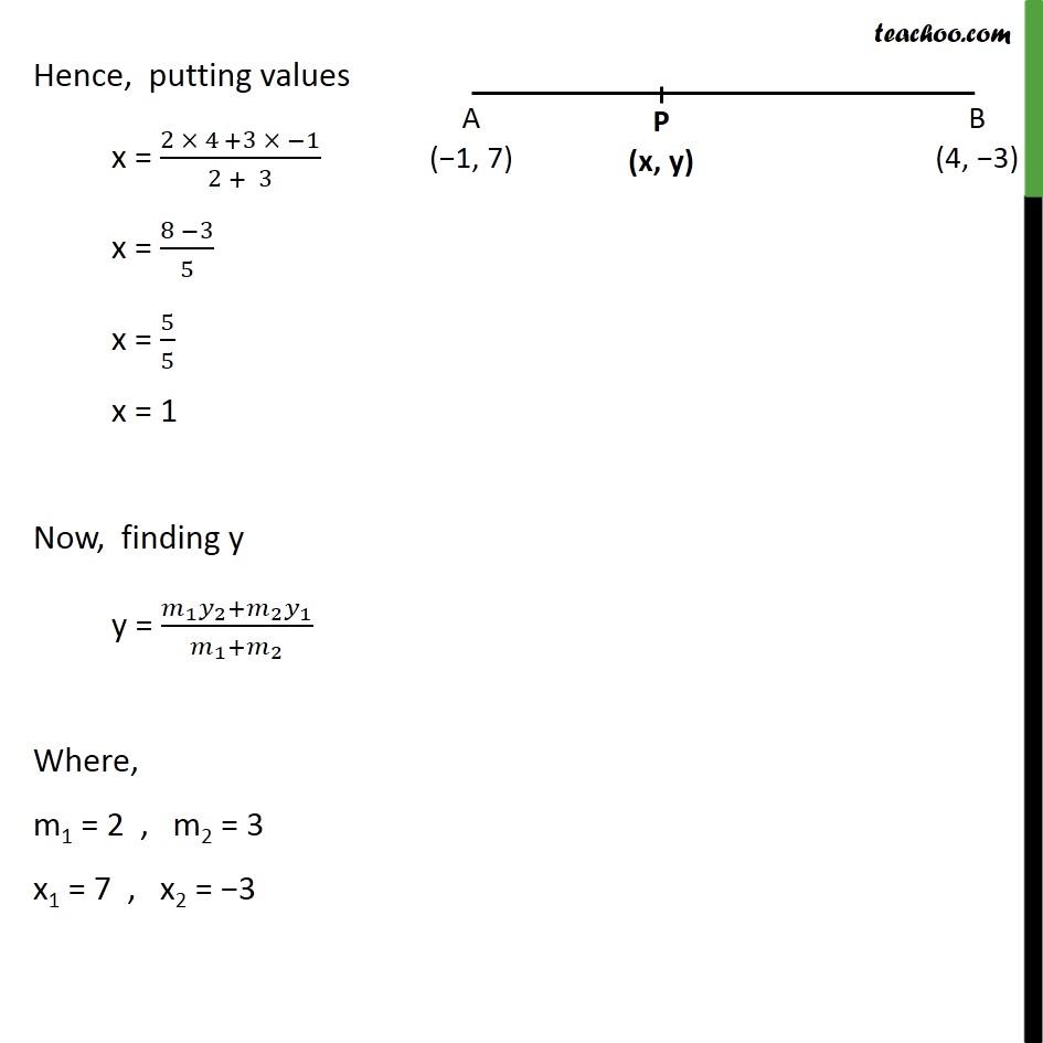 Ex 7.2, 1 - Chapter 7 Class 10 Coordinate Geometry - Part 2