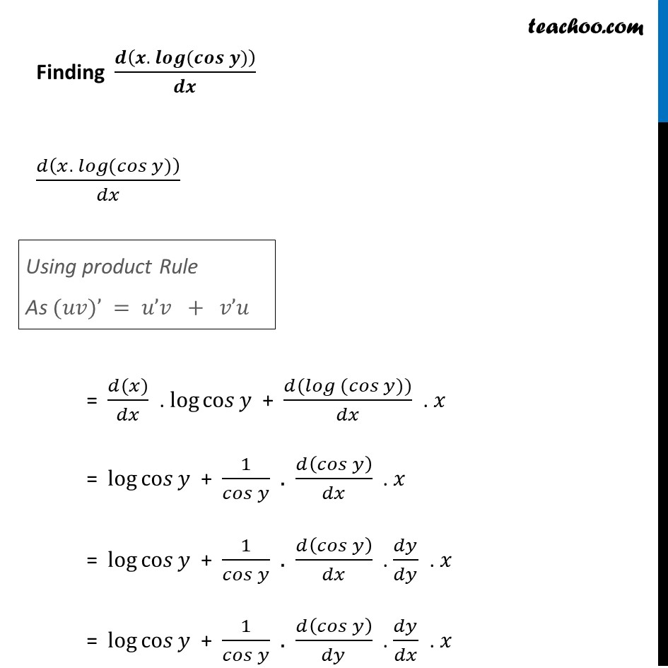 Ex 5.5, 14 - Chapter 5 Class 12 Continuity and Differentiability - Part 3