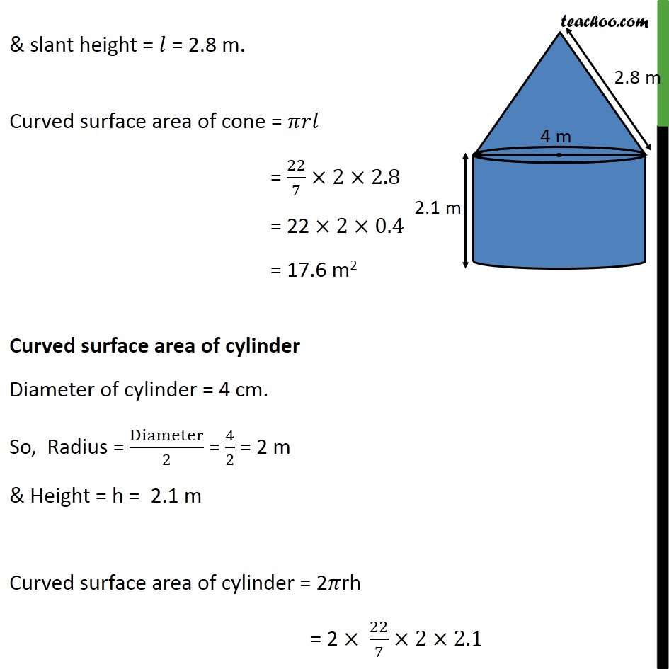 Ex 13.1, 7 - Chapter 13 Class 10 Surface Areas and Volumes - Part 2