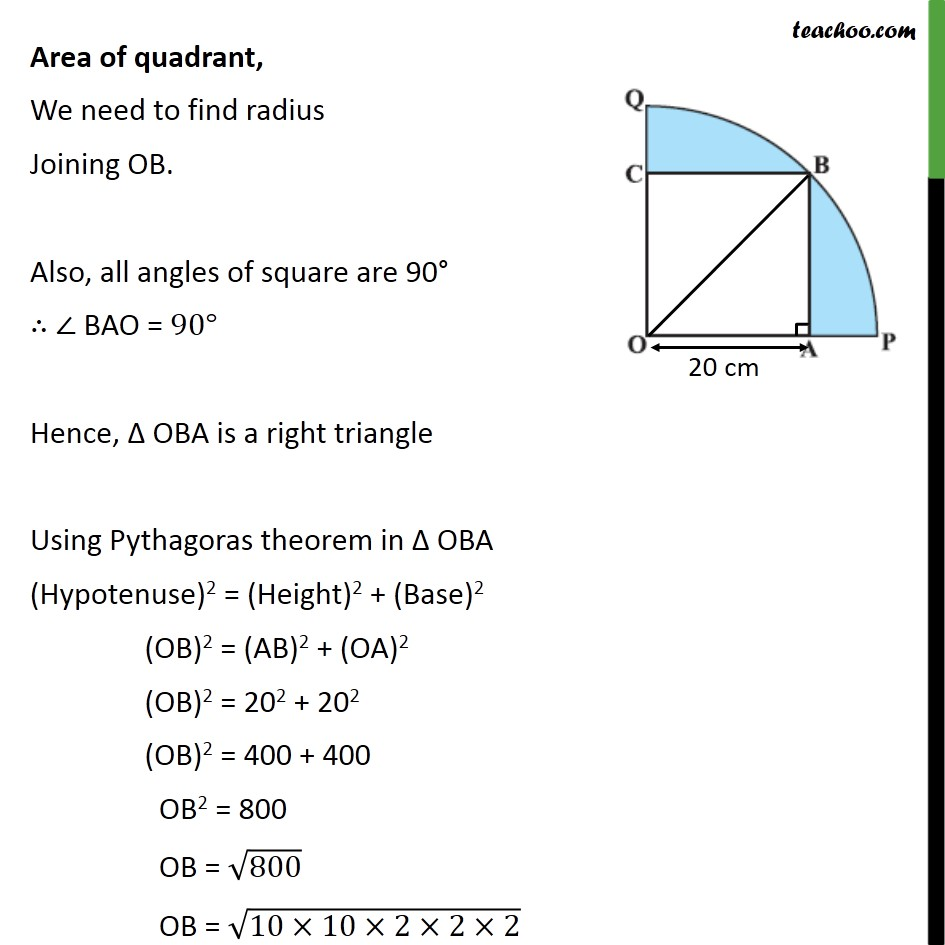 Ex 12.3, 13 - Chapter 12 Class 10 Areas related to Circles - Part 2