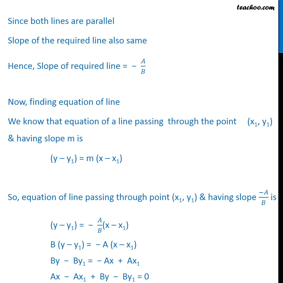 Ex 10.3, 11 - Chapter 10 Class 11 Straight Lines - Part 2