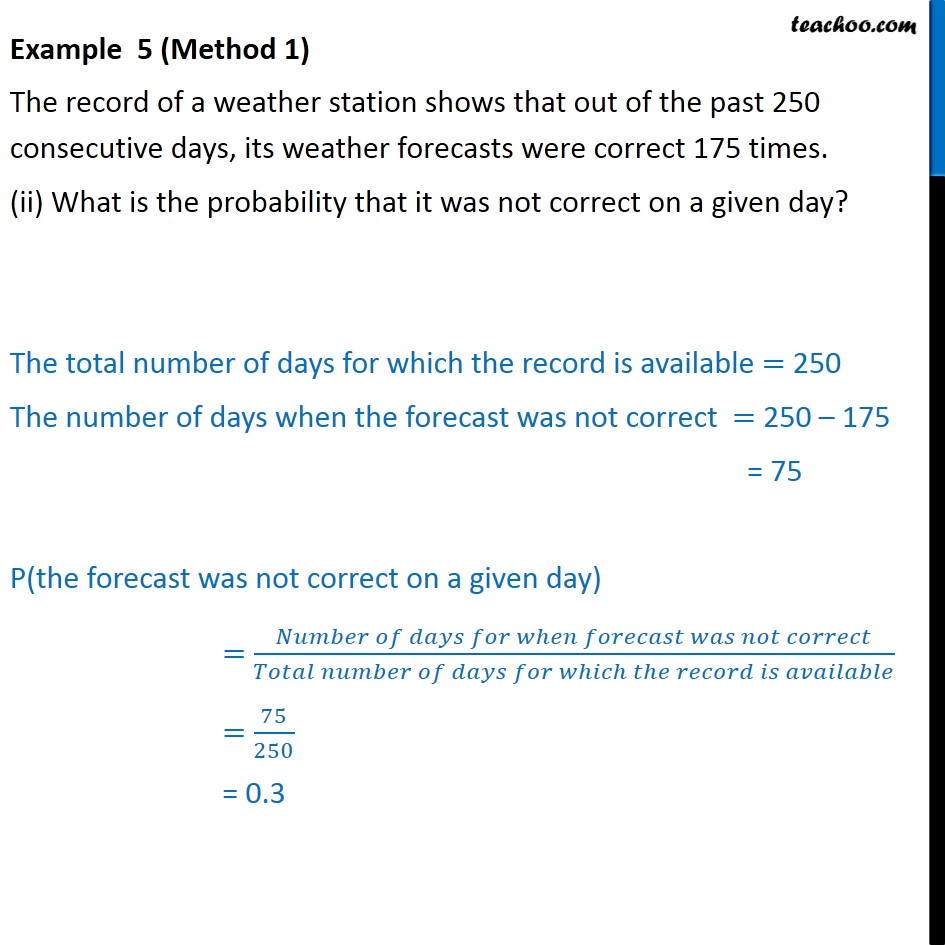 Example 5 - Chapter 15 Class 9 Probability - Part 2