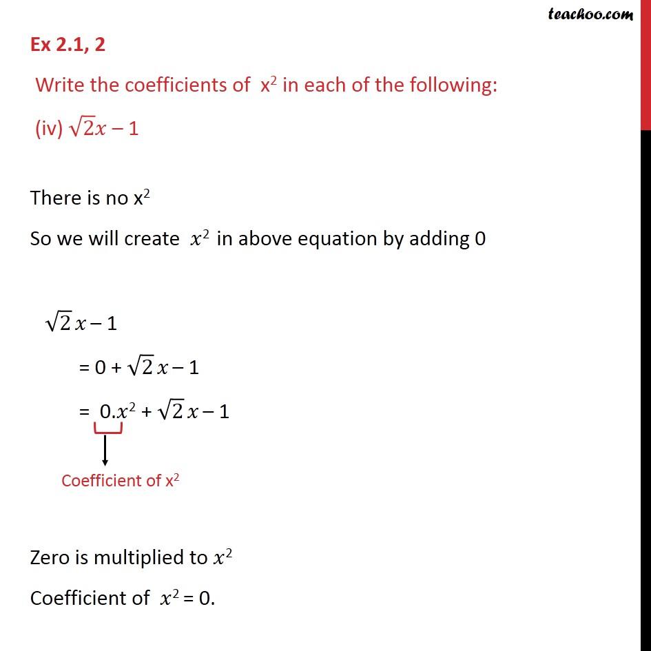 Ex 2.1, 2 - Chapter 2 Class 9 Polynomials - Part 4