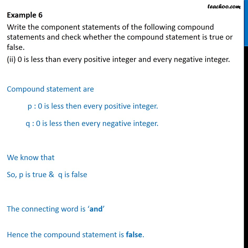 Example 6 - Chapter 14 Class 11 Mathematical Reasoning - Part 2