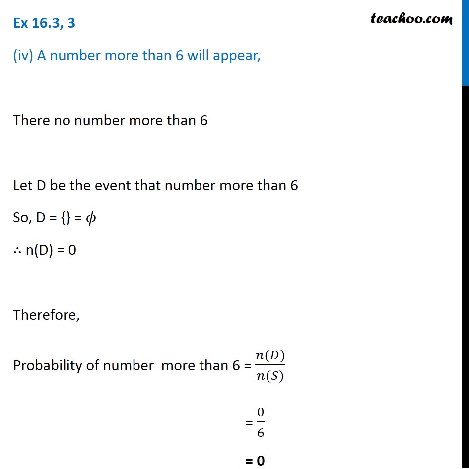 Ex 16.3, 3 - Chapter 16 Class 11 Probability - Part 5