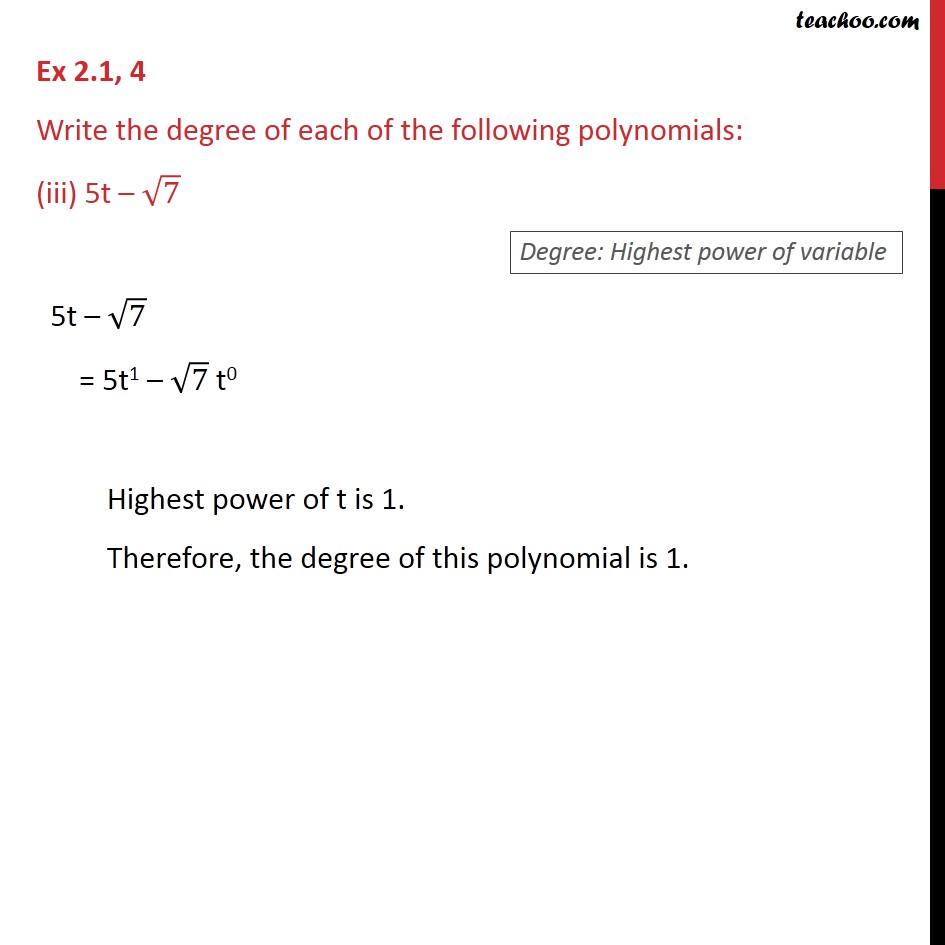 Ex 2.1, 4 - Chapter 2 Class 9 Polynomials - Part 3