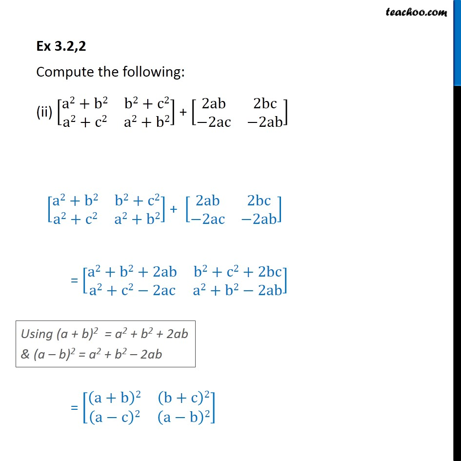 Ex 3.2, 2 - Chapter 3 Class 12 Matrices - Part 2