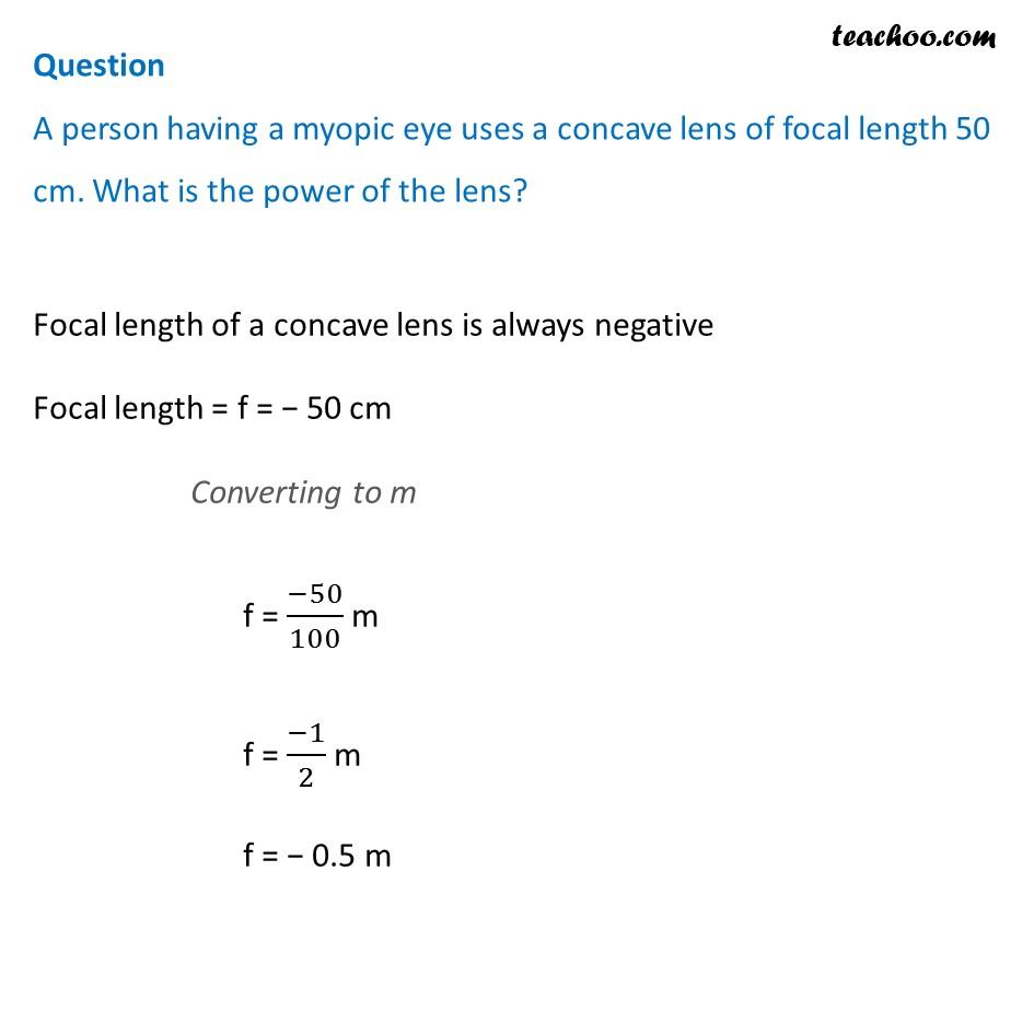 Power of lens - Example - 1 - Teachoo.jpg