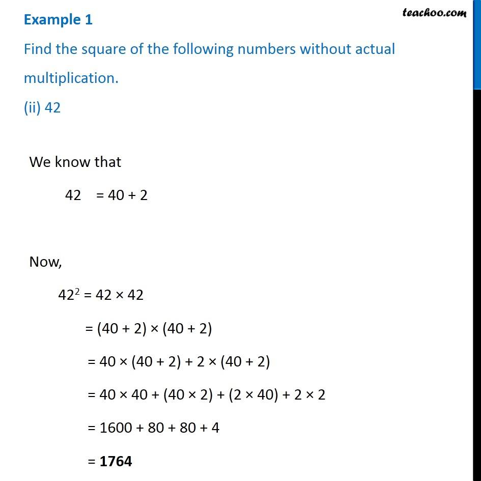 Example 1 - Chapter 6 Class 8 Squares and Square Roots - Part 2