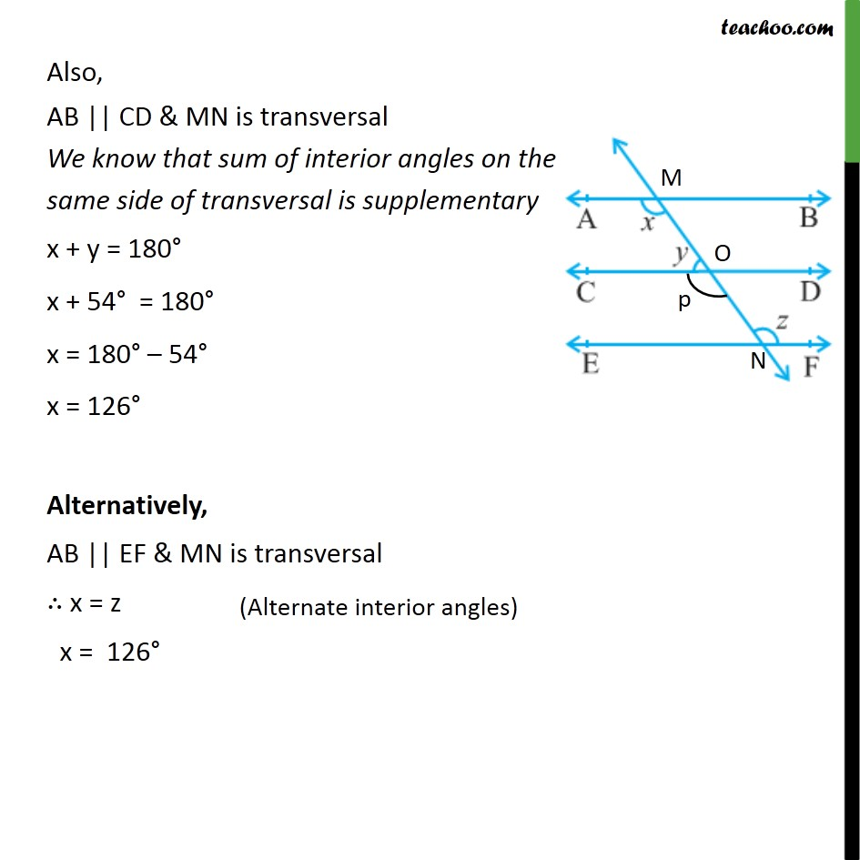 Ex 6.2, 2 - Chapter 6 Class 9 Lines and Angles - Part 3