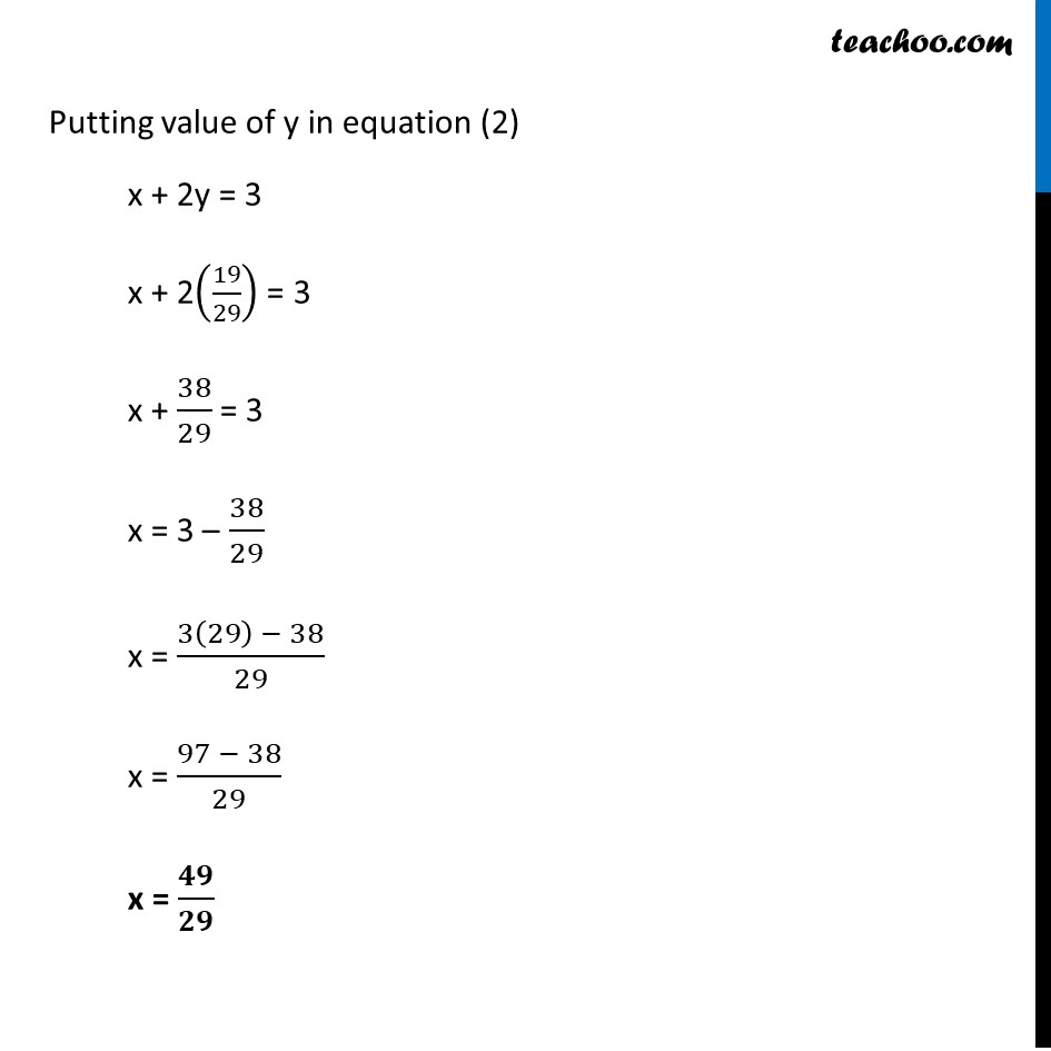 Example 7 - Chapter 3 Class 10 Pair of Linear Equations in Two Variables - Part 3