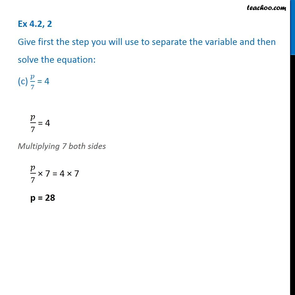 Ex 4.2, 2 - Chapter 4 Class 7 Simple Equations - Part 3