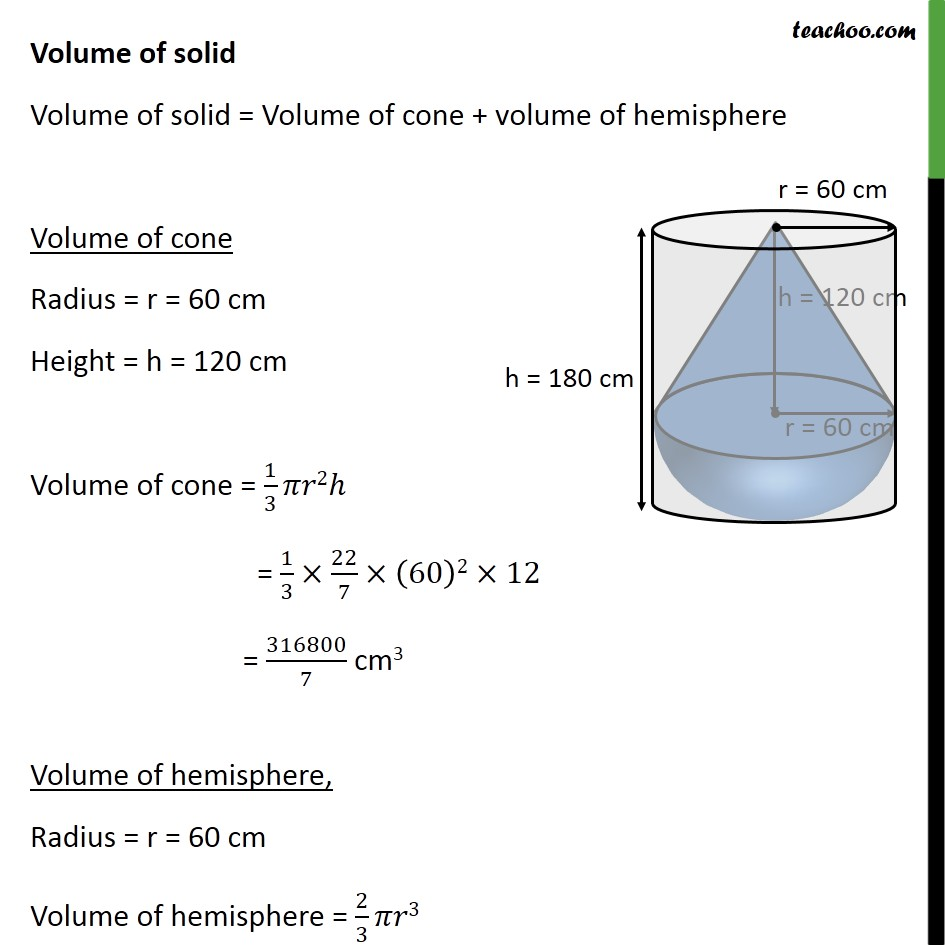 Ex 13.2, 7 - Chapter 13 Class 10 Surface Areas and Volumes - Part 2