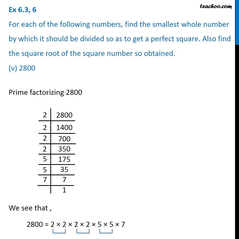 Ex 6.3, 6 - Chapter 6 Class 8 Squares and Square Roots - Part 9