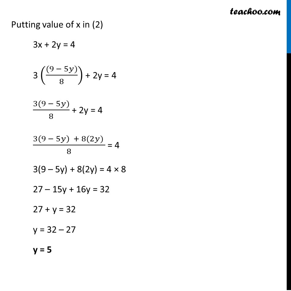 Ex 3.5, 3 - Chapter 3 Class 10 Pair of Linear Equations in Two Variables - Part 2