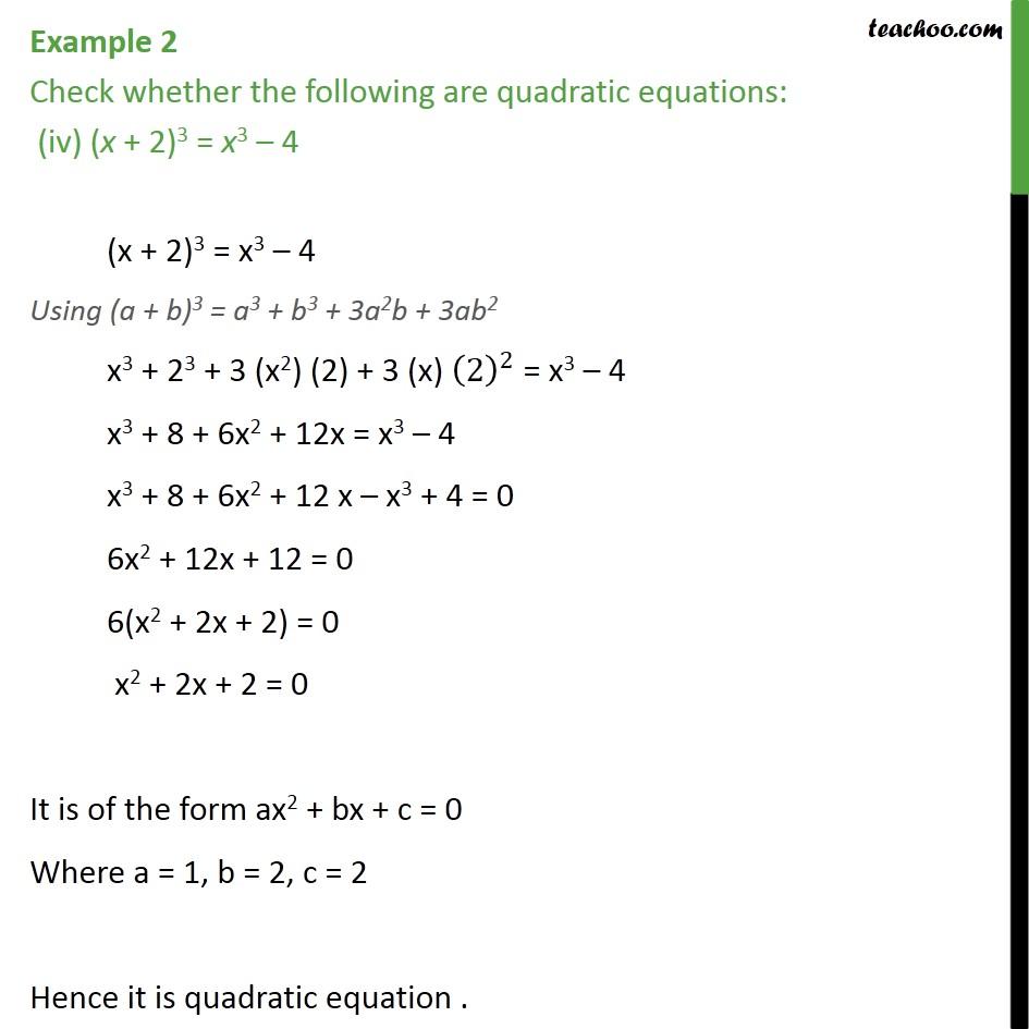 Example 2 - Chapter 4 Class 10 Quadratic Equations - Part 4