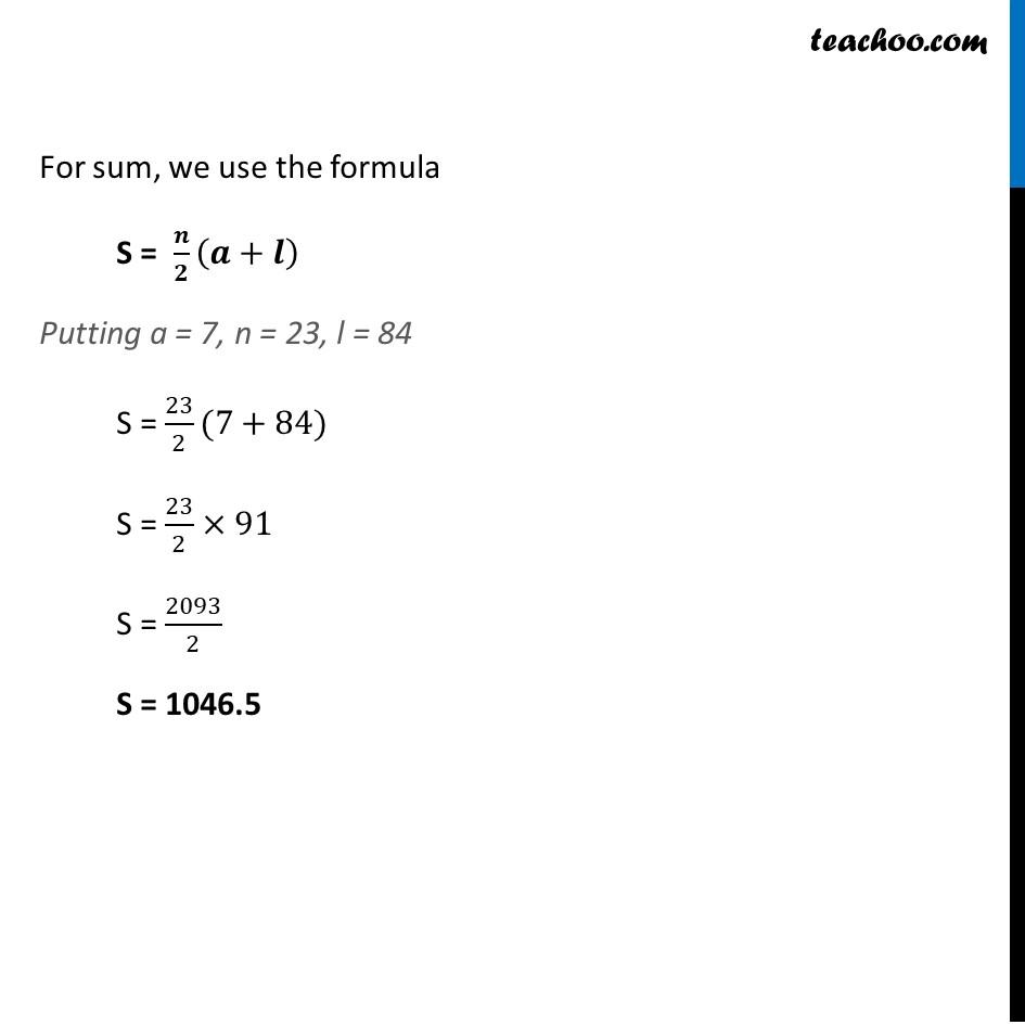 Ex 5.3, 2 - Chapter 5 Class 10 Arithmetic Progressions - Part 3
