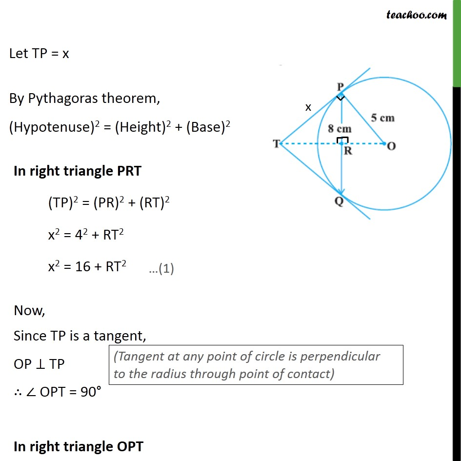 Example 3 - Chapter 10 Class 10 Circles - Part 3