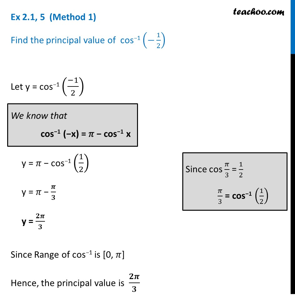 Ex 2.1, 5 - Chapter 2 Class 12 Inverse Trigonometric Functions - Part 2