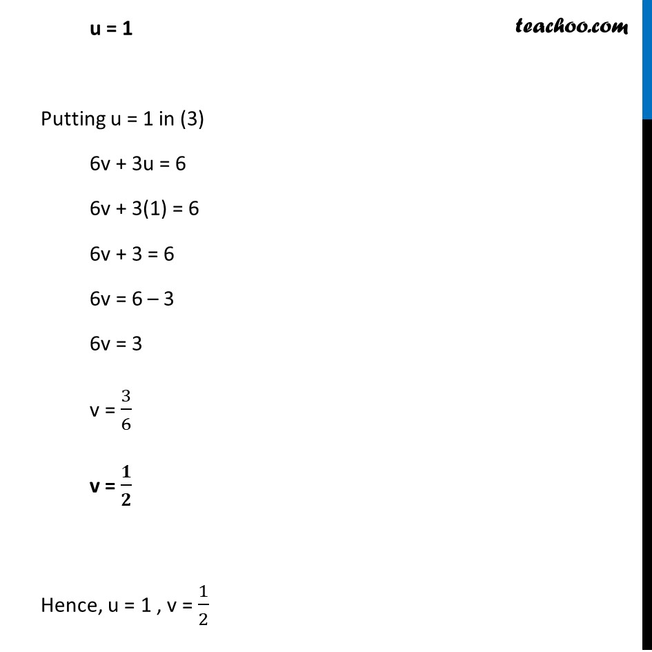 Ex 3.6, 1 (v) and (vi) - Chapter 3 Class 10 Pair of Linear Equations in Two Variables - Part 9