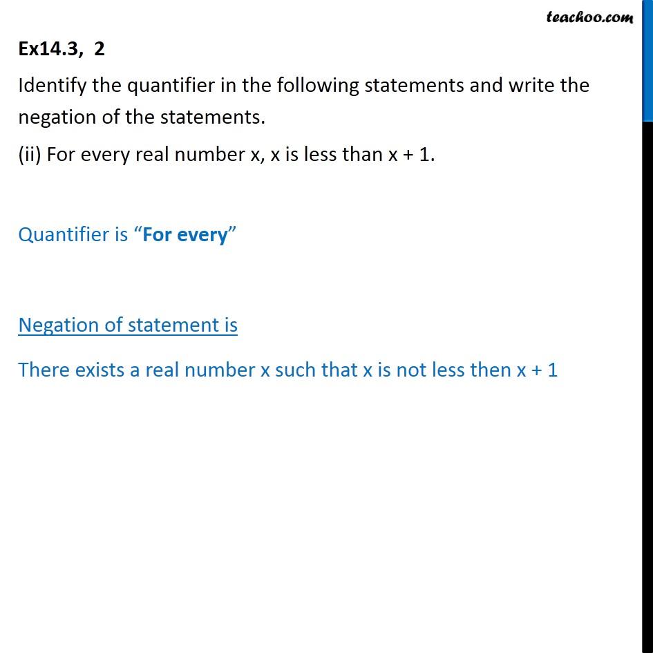 Ex 14.3, 2 - Chapter 14 Class 11 Mathematical Reasoning - Part 2