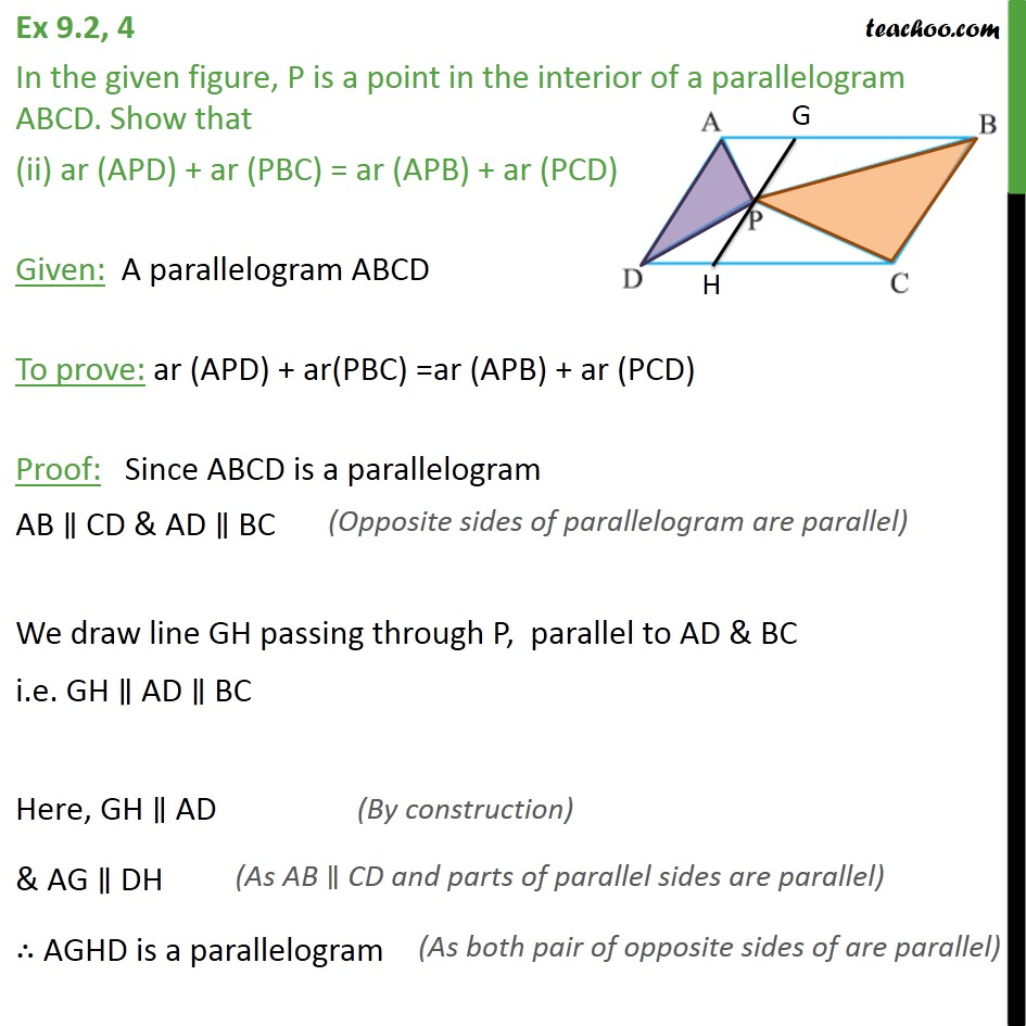 Ex 9.2, 4 - Chapter 9 Class 9 Areas of Parallelograms and Triangles - Part 3