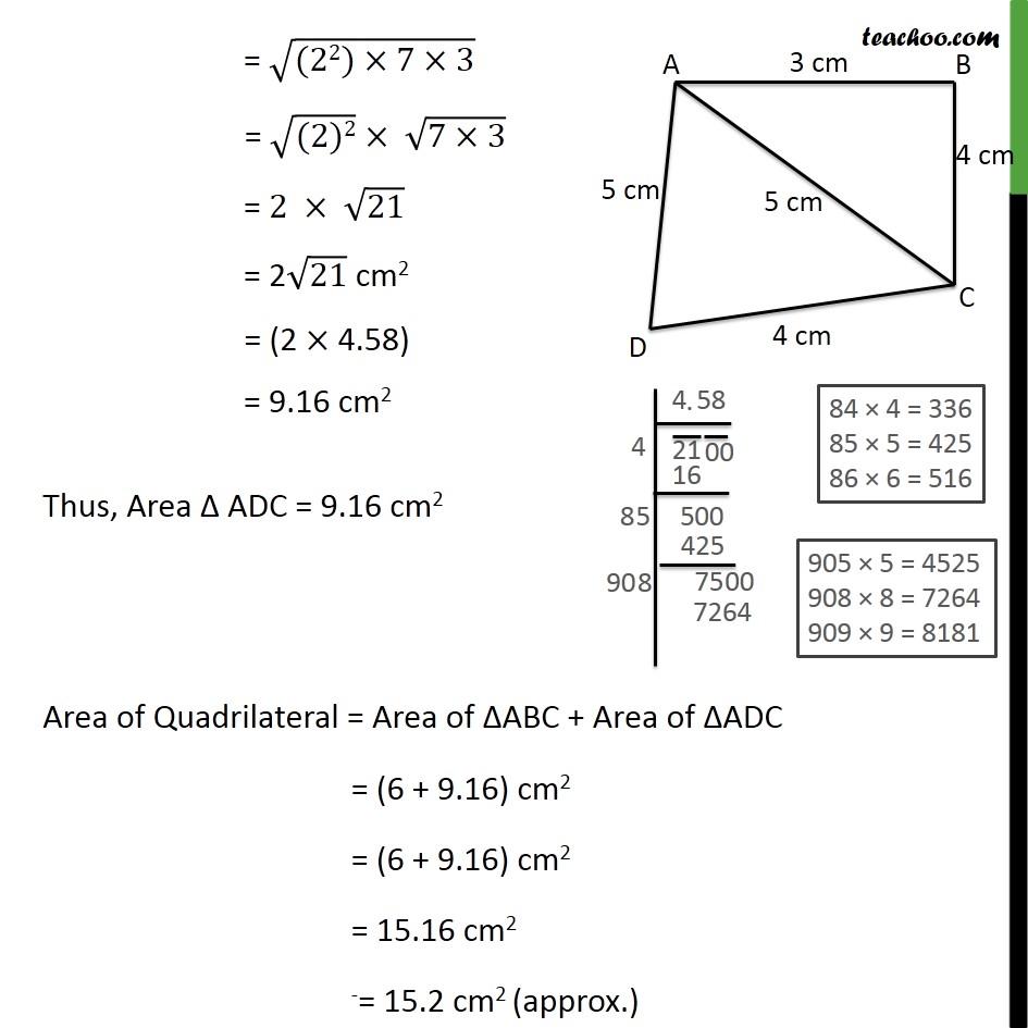 Ex 12.2, 2 - Chapter 12 Class 9 Herons Formula - Part 4