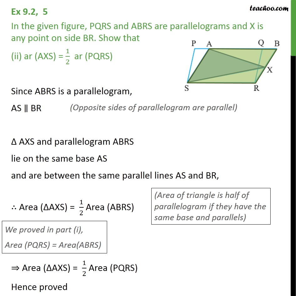 Ex 9.2, 5 - Chapter 9 Class 9 Areas of Parallelograms and Triangles - Part 2