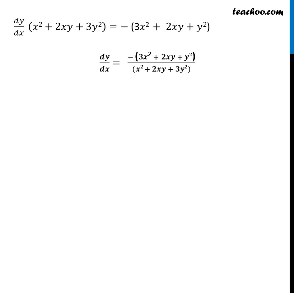 Ex 5.3, 6 - Chapter 5 Class 12 Continuity and Differentiability - Part 3