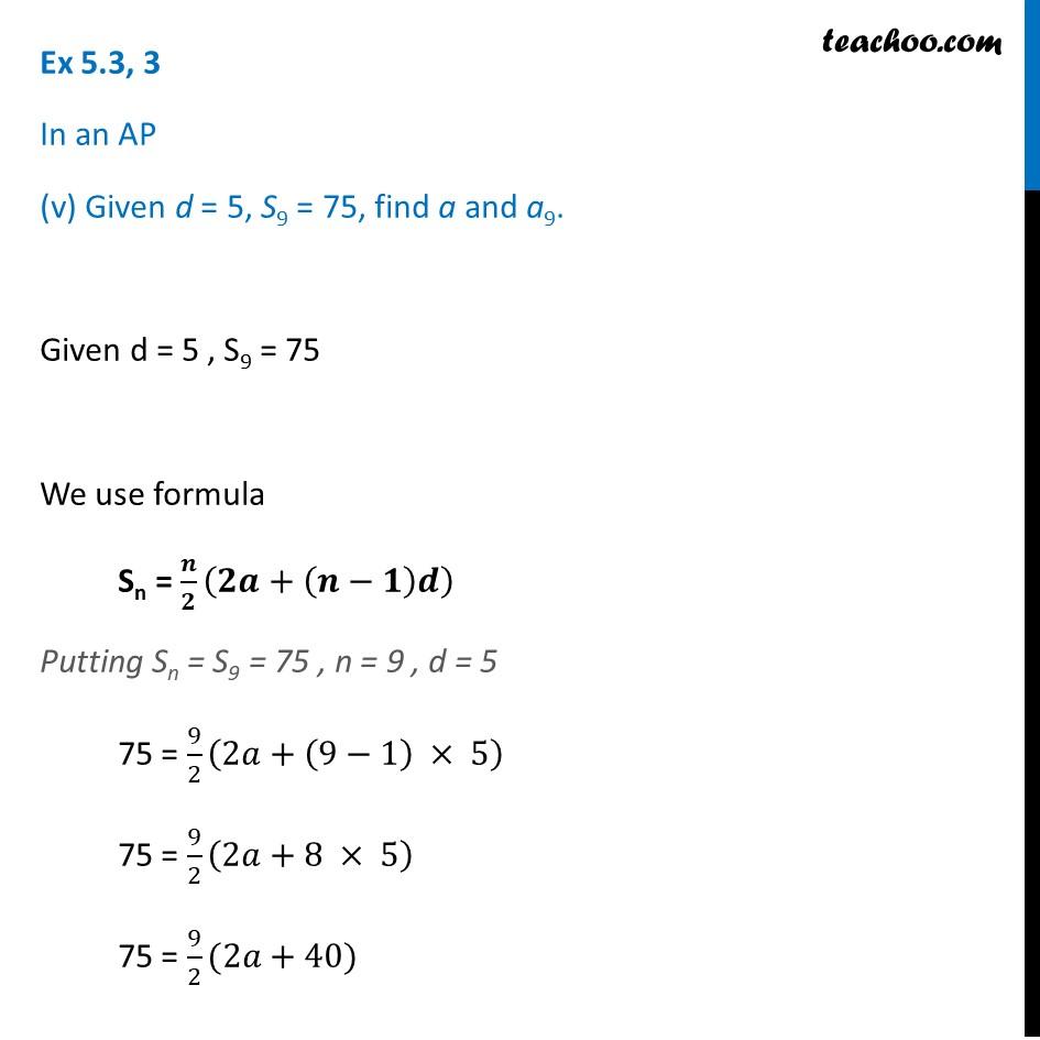 Ex 5.3, 3 - Chapter 5 Class 10 Arithmetic Progressions - Part 10