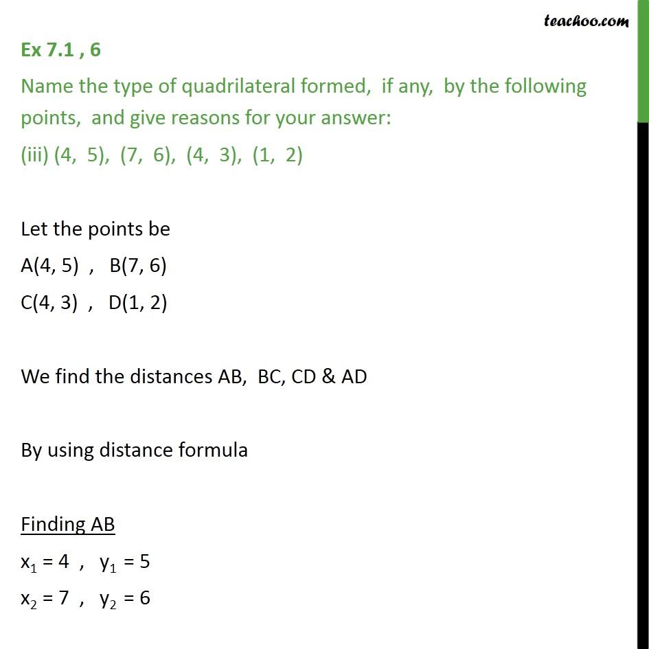 Ex 7.1, 6 - Chapter 7 Class 10 Coordinate Geometry - Part 17